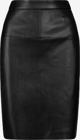 APART Stretchrock im Materialmix aus Heavy Jersey und Kunstleder in Schwarz