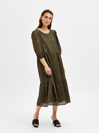 SELECTED FEMME Kleid 'Viole' in nachtblau / oliv, Modelansicht