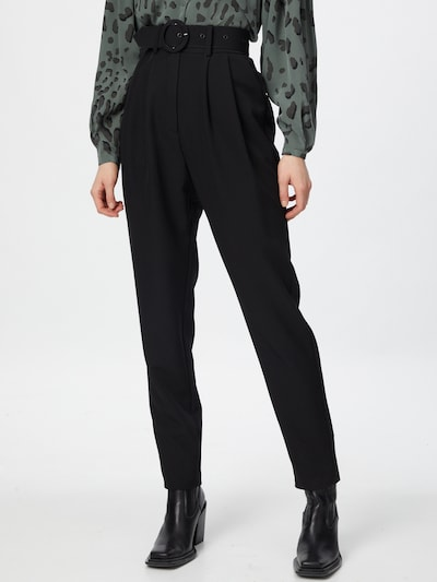 Crās Pleat-front trousers 'Esmacras' in Black, View model