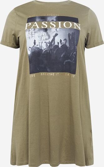 Tricou ONLY Carmakoma pe bej deschis / grafit / gri deschis / oliv / alb, Vizualizare produs