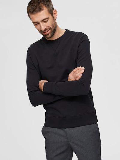 SELECTED HOMME Sweatshirt  'JASON' in schwarz: Frontalansicht