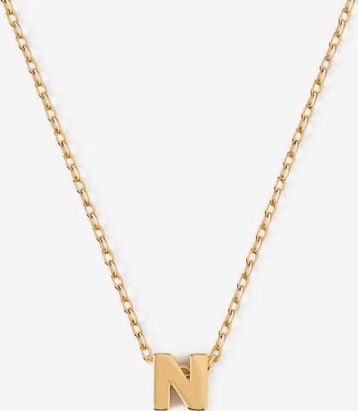 Orelia Chaîne 'Initial N' en or, Vue avec produit