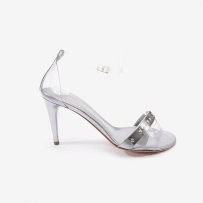 CHANEL Sandaletten in 37,5 in silber, Produktansicht