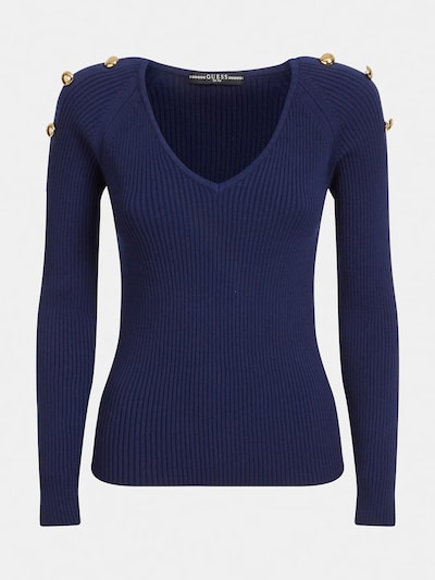GUESS Pullover in dunkelblau, Produktansicht