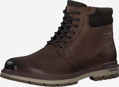s.Oliver Boots med snörning '5-15209-27' i mörkbrun: Sedd framifrån