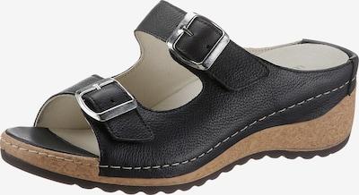 WALDLÄUFER Pantolette 'Hanila' in schwarz, Produktansicht