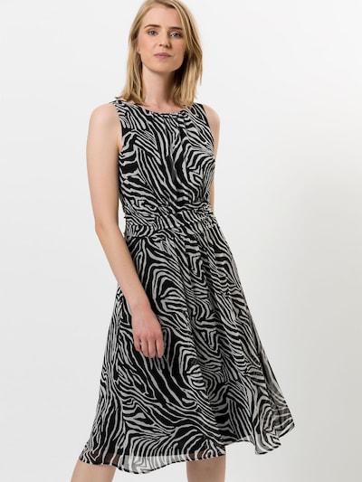 zero Chiffonkleid in schwarz / weiß, Modelansicht