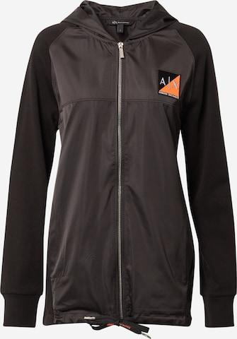 ARMANI EXCHANGE Tepláková bunda - Čierna