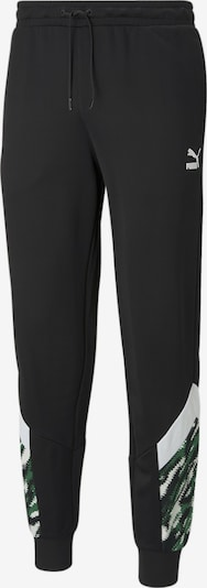 PUMA Sporthose in grasgrün / schwarz / weiß, Produktansicht