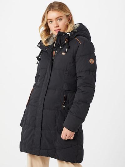 Ragwear Zimski plašč 'Mershel' | črna barva, Prikaz modela