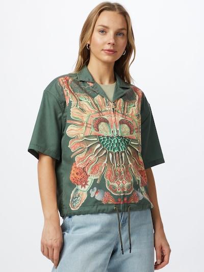 G-Star RAW Bluse 'Hawaiian' in beige / hellblau / grün / hellrot, Modelansicht