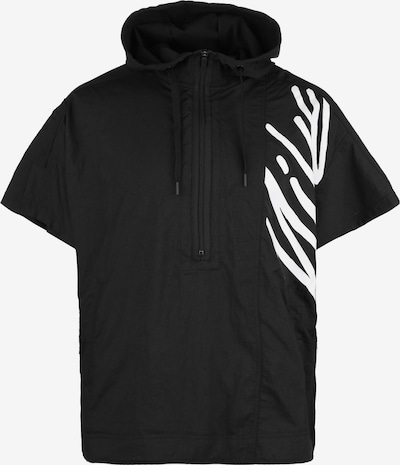 NIKE T-Shirt fonctionnel en noir / blanc: Vue de face