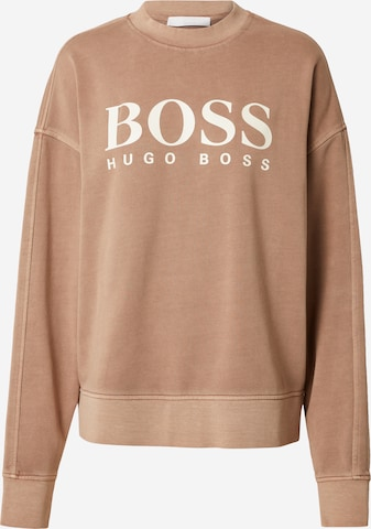 BOSS Casual Sweatshirt 'Evinta' in Beige