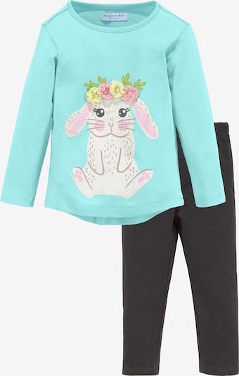 KLITZEKLEIN Shirt und Hose in aqua / grau, Produktansicht