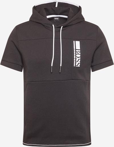 BOSS ATHLEISURE Sweat-shirt 'Swoody 1' en noir / blanc, Vue avec produit