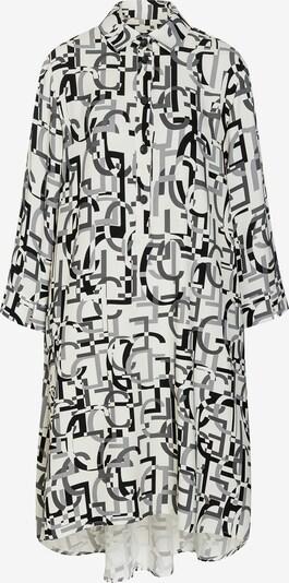 Ana Alcazar Blusenkleid 'Edena' in grau / schwarz / weiß, Produktansicht