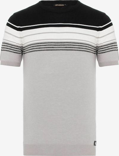 CIPO & BAXX Shirt in de kleur Grijs / Zwart / Wit, Productweergave