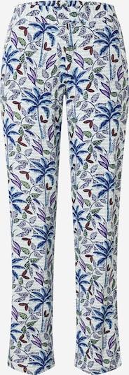 ETAM Pantalon de pyjama 'AMINA' en bleu / bleu clair / vert clair / violet / blanc, Vue avec produit