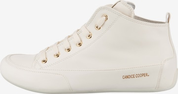 Candice Cooper High-Top Sneakers in White