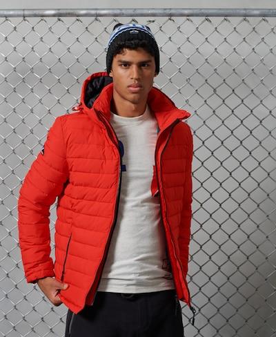 Superdry Winterjas in de kleur Lichtrood: Vooraanzicht
