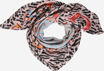 GUESS Scarf in Light blue / yellow gold / Peach / Light red / Black, Item view