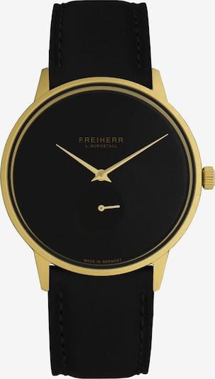Freiherr v. Burgstall Uhr in schwarz, Produktansicht