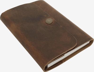 Gusti Leder Notizbuch Leder Schwarz 'Virginia' in braun, Produktansicht