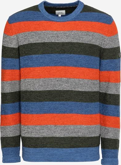 CAMEL ACTIVE Pullover in royalblau / graumeliert / tanne / orange, Produktansicht