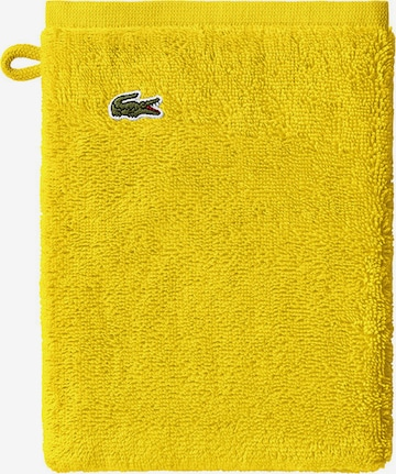 LACOSTE Washcloth 'LE CROCO' in Yellow