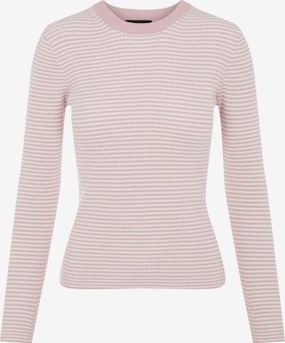 PIECES Pullover 'Penny' in pastellpink / weiß, Produktansicht