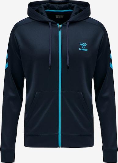 Hummel Sportsweatvest in de kleur Navy / Neonblauw, Productweergave