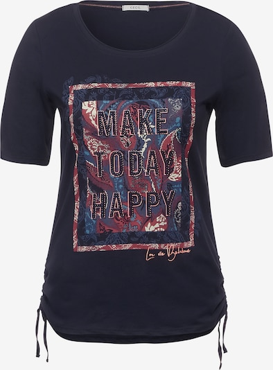 CECIL T-Shirt in dunkelblau / mischfarben, Produktansicht