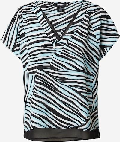 DKNY Majica u svijetloplava / crna / bijela, Pregled proizvoda