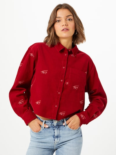 Tommy Jeans Bluse 'Critter' in navy / rot / weiß, Modelansicht