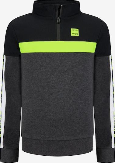 Retour Jeans Mikina 'Wart' - antracitová / kiwi / čierna / biela, Produkt