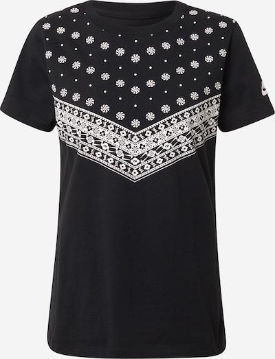 Nike Sportswear Тениска 'Heritage' в черно / бяло, Преглед на продукта