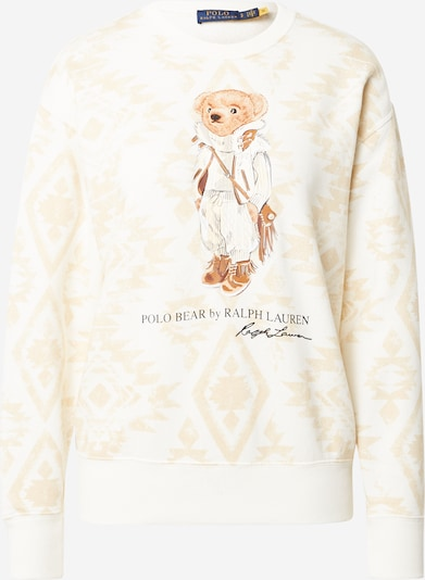 Polo Ralph Lauren Sweatshirt in Cream / Light beige / Cognac / Black, Item view