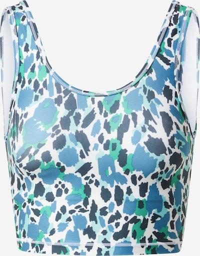 Marika Sport bh 'LAYLA' in de kleur Hemelsblauw / Donkerblauw / Jade groen / Wit, Productweergave