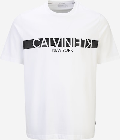Calvin Klein Big & Tall T-Shirt en noir / blanc cassé, Vue avec produit