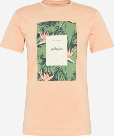 JACK & JONES T-Krekls gaiši zaļš / tumši zaļš / gaiši oranžs / balts, Preces skats