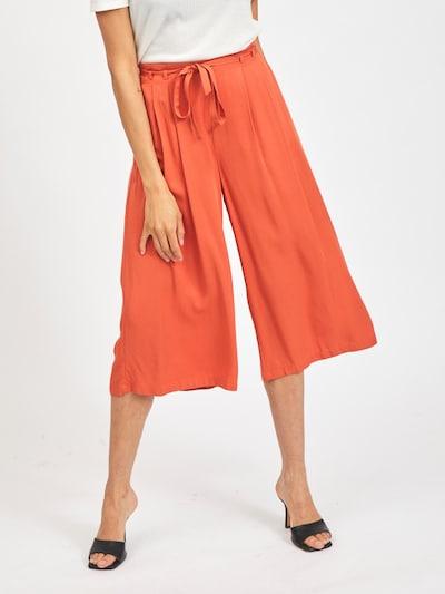 VILA Bandplooibroek 'Vero' in de kleur Oranjerood, Modelweergave