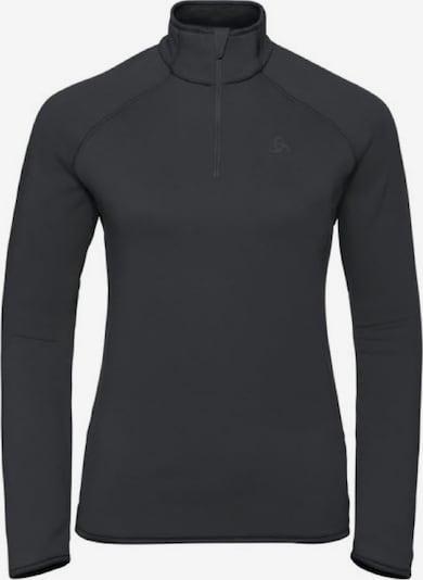 ODLO Pullover 'Midlayer 1/2 zip CARVE CERAM' in schwarz, Produktansicht