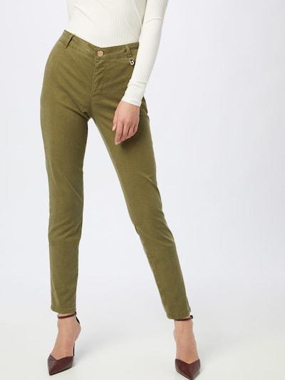MOS MOSH Pantalon chino 'Perry' en vert foncé, Vue avec modèle