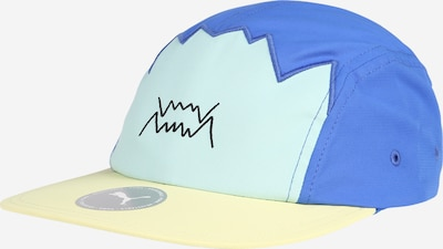 PUMA Športna kapa | nebeško modra / pastelno rumena / meta barva, Prikaz izdelka