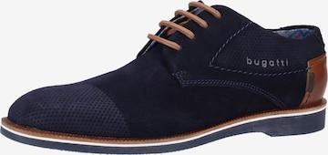 Pantofi cu șireturi 'Melchiore' de la bugatti pe albastru