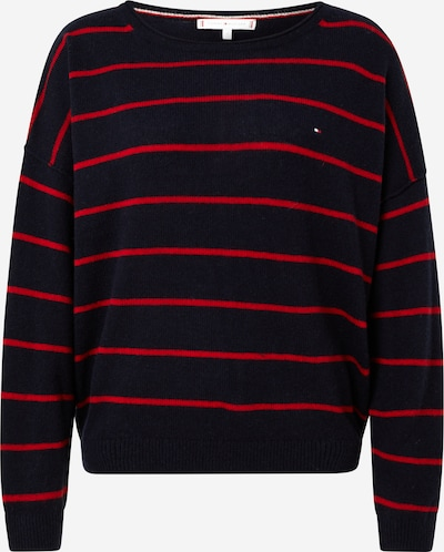 TOMMY HILFIGER Pullover in navy / rot, Produktansicht