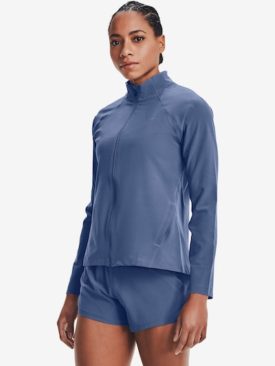UNDER ARMOUR Athletic Jacket 'Launch 3.0' in Dusty blue: Frontal view