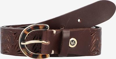 b.belt Handmade in Germany Ceinture ' Florencia ' en brun foncé / or, Vue avec produit