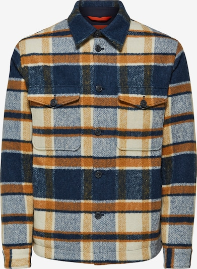 SELECTED HOMME Jacke 'Sust' in dunkelblau / cognac / hellgelb, Produktansicht
