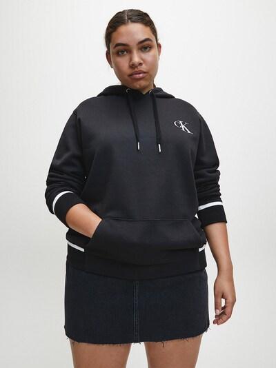 Calvin Klein Jeans Sweatvest in de kleur Zwart / Wit: Vooraanzicht